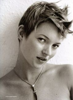 For shortcut hairs, Kate Moss is always a trend.