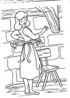 Desenhos Da Cinderela Para Colorir Cinderela Desenho Paginas