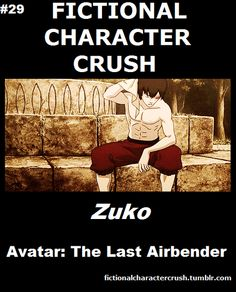 #29 - Zuko from Avatar.  He's the Faramir character of Avatar.  The disregarded son that tries so very hard to make his father proud. Who couldn't go for a guy like that.