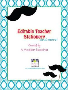 Editable Teacher Stationery and Printables, $