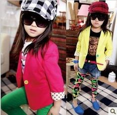 4sets/lot 2013 spring korean girls fashion suit baby children coat + skirt clothing set ZZ0411-in Clothing Sets from Apparel & Accessories on Aliexpress.com