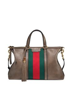 Want. Rania Leather Tote Bag by Gucci at Neiman Marcus.