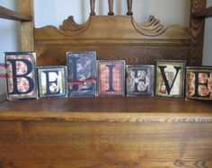 These Jingle All The Way word blocks will be the perfect touch to your Christmas decor. Blocks have been painted and distressed with quality scrapbook paper applied with embellishments added. The dimensions of this piece are 7.5 tall x 15 wide.  Please note that shipping is an estimate and is dependent upon your location. Shipping will be adjusted with either a refund or additional charge at time of shipment. I am happy to combine shipping with other items, just e-mail me.  Please note that…