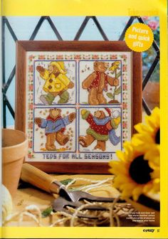 teds for all seasons  Gallery.ru / Photo # 41 - Cross Stitch Crazy 008 June 2000 - tymannost