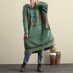 Women Autumn Hoodies Long Sleeve Printing Casual Loose Dress