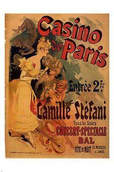 Casino de Paris VINTAGE AD POSTER Jules Chéret France 24x36 NEW top quality