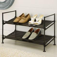 Organize It All 2-Tier Shoe Rack - 97222W-1