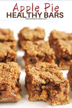 Healthy Bars, Healthy Dessert Recipes, Snack Recipes, Keto Recipes, Vegan Desserts, Free Recipes, Healthy Snacks, Healthy Eating, Honey Crisp Apple Pie