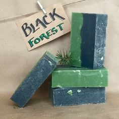 Black Forest Soap by AlmostCanada on Etsy Fir Needle, Black Pepper and Charcoal.