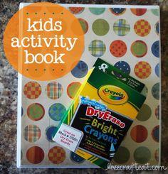 kids dry-erase activity workbook for general conference, sacrament meeting, etc.