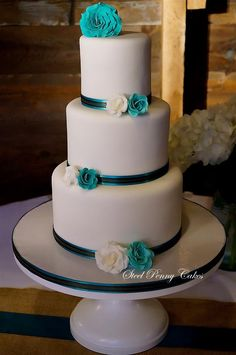 Wedding Cake: Steel Penny Cakes; We are Obsessed with These Gorgeous Wedding Cakes! To see more: http://www.modwedding.com/2014/09/25/obsessed-gorgeous-wedding-cakes/ #wedding #weddings #wedding_cake Wedding Cake: Steel Penny Cakes