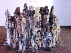 Modern Sculptures at the Museum of Contemporary Art in Oaxaca Mexico