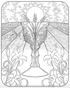 """Eucharist"" digi stamp by Diana Garrison on squigglefly.com"