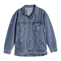 Button Up Ripped Denim Jacket (2.025 RUB) ❤ liked on Polyvore featuring outerwear, jackets, zaful, denim jacket, blue jackets, blue denim jacket, button down jacket and jean jacket