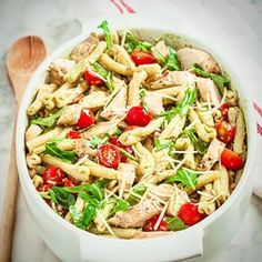 Pesto #pasta #Salad with Grilled Chicken. Tomatoes and basil, the best of #summer  #food #ontheblog #yummy #delicious #foodgasm #foodporn #foodstagram #instayum #instafood #instagood #healthy #eatwell #fitness #huffposttaste #buzzfeast #photooftheday