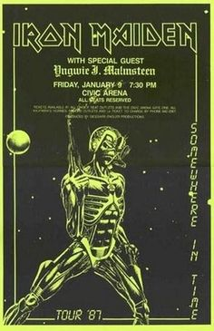 Limited Iron Maiden 1987 Concert Poster Print VERY LIMITED RARE