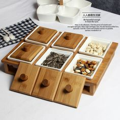 >> Click to Buy << Living room dried fruit dish separate compartments Dried fruit box lid Nuts plate Dessert plate Fruit tray Candy Box Spice jar #Affiliate
