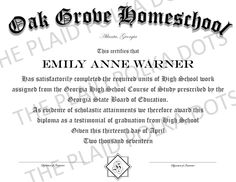 Homeschool High School Diploma by ThePlaidPolkaDots on Etsy Homeschool Diploma, Homeschool High School, High School Diploma, Study, Education, Studio, Studying, Onderwijs, Learning