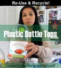 ReUse Plastic Bottle Tops To Seal Bags #recycling #repurposeplastic