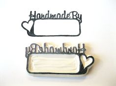 Hand Carved Rubber Stamp, Words Handmade By Stamp... but I think I will try this myself with a large eraser