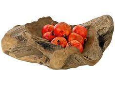 een houten fruitschaal, hoe vet!