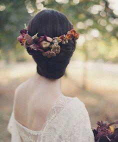 低盤髮可以加花