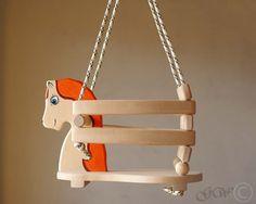 Wooden Handmade Horse Swing, Baby Swing, Handmade Children Toys Z301 by GreenWoodLT on Etsy https://www.etsy.com/listing/169584783/wooden-handmade-horse-swing-baby-swing