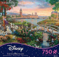 THOMAS KINKADE DISNEY DREAMS PUZZLE 101 DALMATIANS 750 PCS #2903-18 #Ceaco