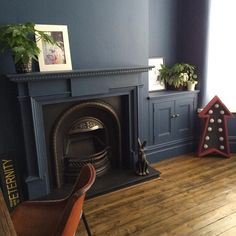"207 Likes, 52 Comments - Jo (@roomswithdogs41) on Instagram: ""Fireplace almost finished, yay!! Just needs one more coat and we haven't run out of paint!!…"""
