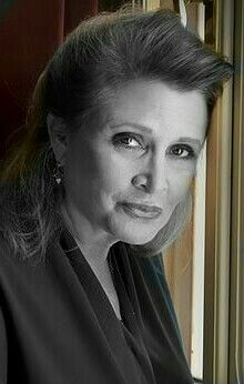 Carrie Frances Fisher(October 21, 1956 – December 27, 2016) was an American actress, screenwriter, author, producer, and speaker. She was known for playingPrincess Leiain theStar Warsfilms.Daughter of Debbie Reynolds and Eddie Fisher.  Family kept her alive on life support long enough so she wouldn't pass away on Christmas Day.