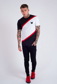 Retro Cryptic T-Shirt Black - Polo Shirt Style, T Shirt, Stephen James Model, Outfit Man, Track Pants Mens, Tiger Design, Mens Tees, Sportswear, Cool Outfits