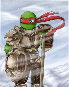 TMNT+Skyrim crossover Yes! ^^ Raphael as Harbinger of the Companions xD Hope you like it ^^ And. Sonic Vs Knuckles, Tmnt Girls, Tmnt 2012, Comic Book Characters, Teenage Mutant Ninja Turtles, Tv, Plushies, Supernatural, Fangirl