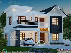 4 BHK 1763 square feet modern house plan