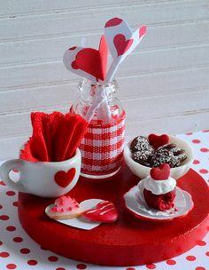 Miniature Valentine Cookies and Cupcake Set by CuteinMiniature