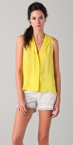 Get Jennie Garth's look this the fanny sleeveless blouse by Jeunesse $198