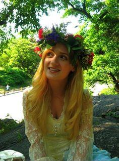 Swedish Midsummer's Day floral hair wreath--DIY