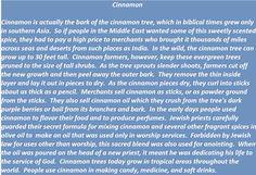 Cinnamon in biblical times