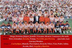 Atletico de Madrid 1993-94 con el mexicano Luis Garcia Postigo.