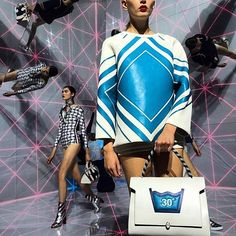 """""""Next level: @lindafargo shares a snap from the fantastic (and futuristic) @anyahindmarch show #LFW"""" Photo taken by @bergdorfs on Instagram"""