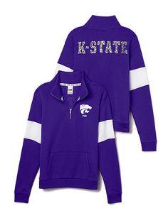 K-State Bling Half-Zip Pullover
