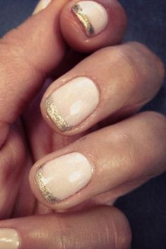 not much of a nude nail person but i love the gold tips! :)