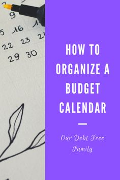 Maintaining a budget is crucial on a debt free journey. A budget calendar can help. Here are some organization tips. Create A Budget, Debt Free, Organization Hacks, Personal Finance, Budgeting, Calendar, Journey, Teaching, Tips