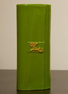 Green clay wallet.