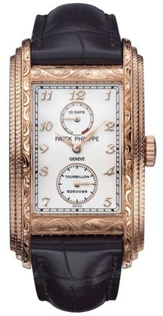 Patek Philippe Tourbillon watch with 10 Day Power Reserve. Exceptional gold case design... ~CRV~