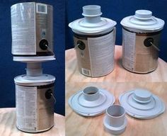 Paint can transfer system that allows efficient transfer of paint from one can to the other. Prevents paint waste and saves time. Metal Detector, Unique Products, Amazon Products, Paint Cans, Soap Dispenser, Inventions, Helpful Hints, Canning, Woodworking