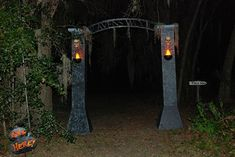 Cheap & easy arched gateway. this would be good for both r drive way entrances