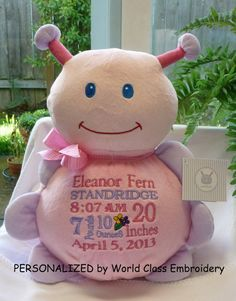 Personalized baby gift baby cubbies dumble elephant birth personalized baby gifts embroidered baby gift baby girl gift pink by worldclassembroidery 3500 negle Gallery