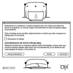El programa se ha cerrado #opi #cute #kawaii #Mostropi #ilustración #error | por OSCAR OSPINA STUDIO