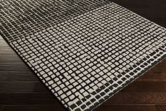 Theory Area Rug | Black Modern Rugs Hand Tufted | Style THY5000
