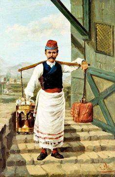 An Ottoman Coffee Seller, Istanbul, Ottoman Turks, European American, The Turk, Turkish Art, Turkish Coffee, Evolution Of Fashion, Vintage Poster, Street Art